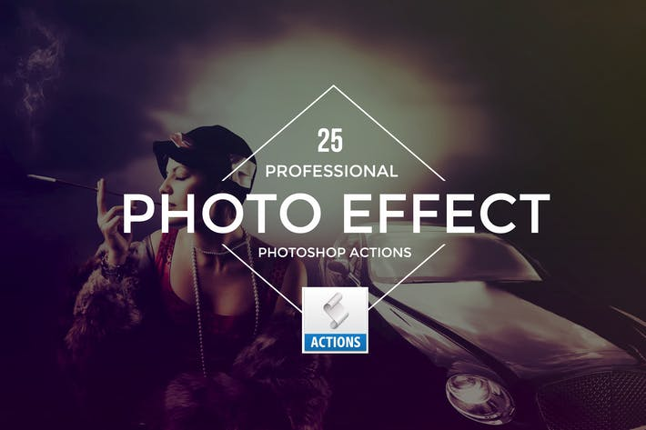 Thumbnail for Photo Effect Photoshop Actions