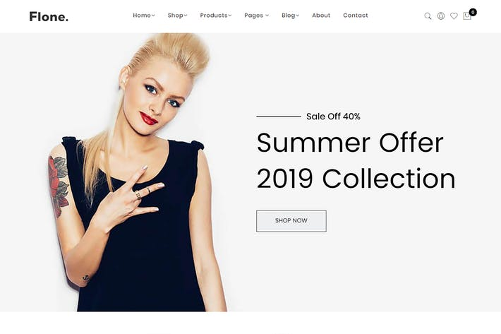Thumbnail for Flone - Minimalist eCommerce Shopify Theme