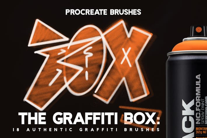 Thumbnail for The Graffiti Box: Procreate Brushes