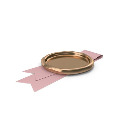 Pink Ribbon with Wax Stamp
