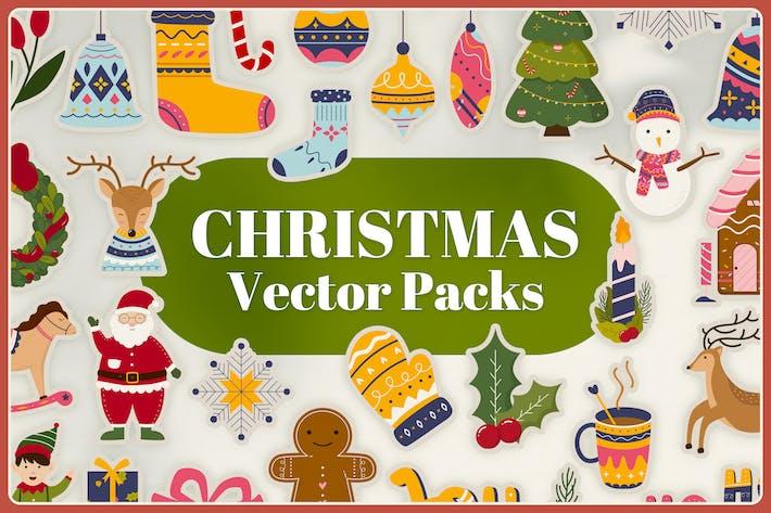 Thumbnail for Christmas Vector Packs