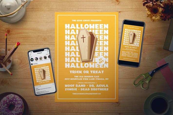 Thumbnail for Simple Halloween Flyer Set