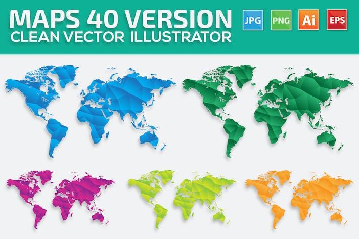 Thumbnail for Mapa del Mundo 40 Versión