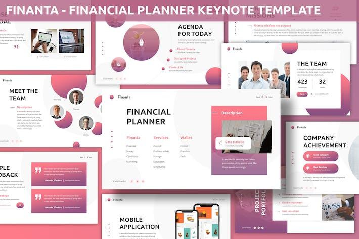 Thumbnail for Finanta - Financial Planner Keynote Template