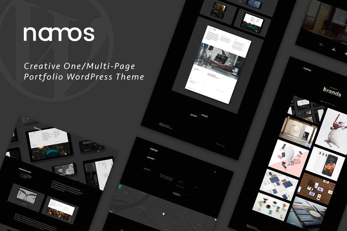 Thumbnail for Namos - Creative One/Multi-Page Portfolio WordPres