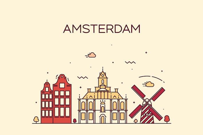 Thumbnail for Amsterdam skyline, Netherlands