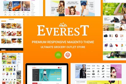 Everest Premium Responsivo Magento Tema CE 1.9.x