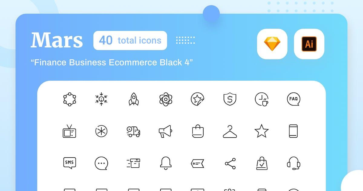 Download Mars - Finance Business Ecommerce Black 4 by sudutlancip