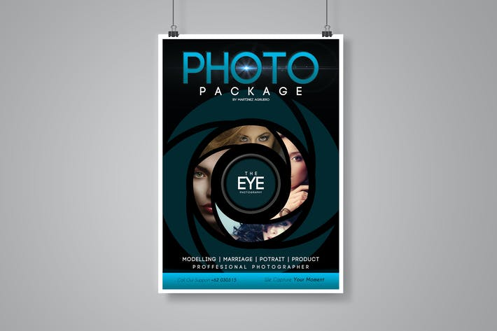 cover image for photography flyer poster template