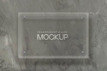 Transparente Glas-Mockup