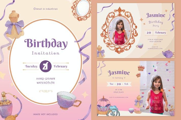 Thumbnail for Пригласительный билет на день рождения принцессы