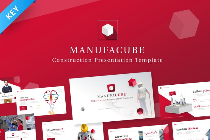 Thumbnail for Manufacube - Construction Keynote Template