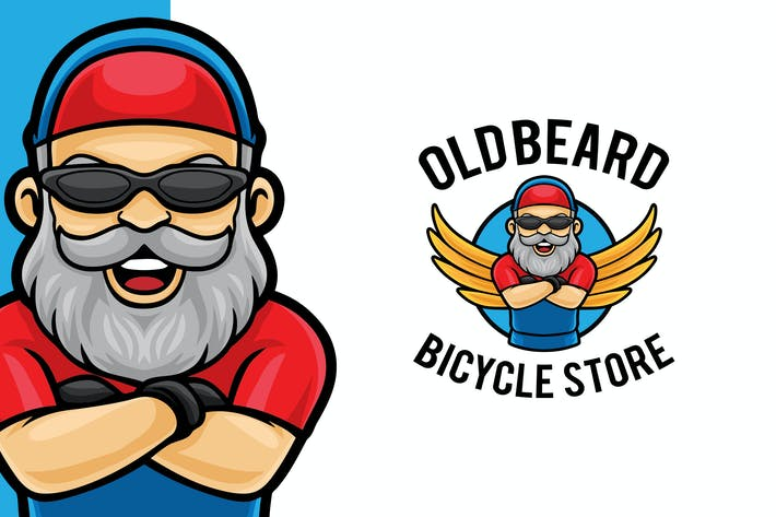 Bicycle Store Logo Mascot Template