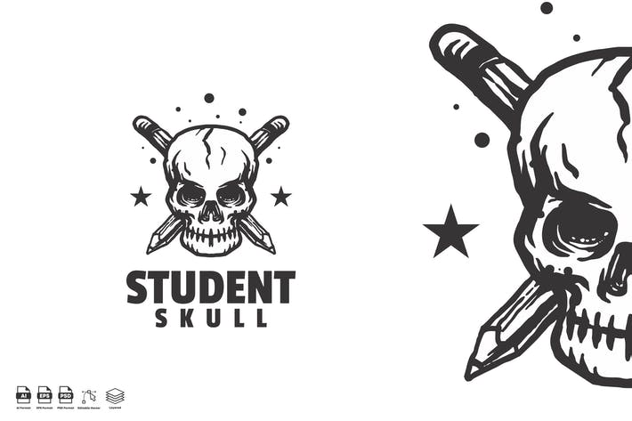 Thumbnail for Student Totenkopf Vintage-Logo