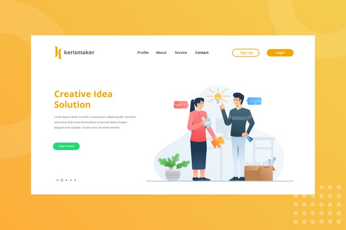 Thumbnail for Creative Idea Solution Landing Page