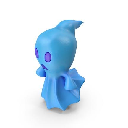 Cartoon Ghost Blau