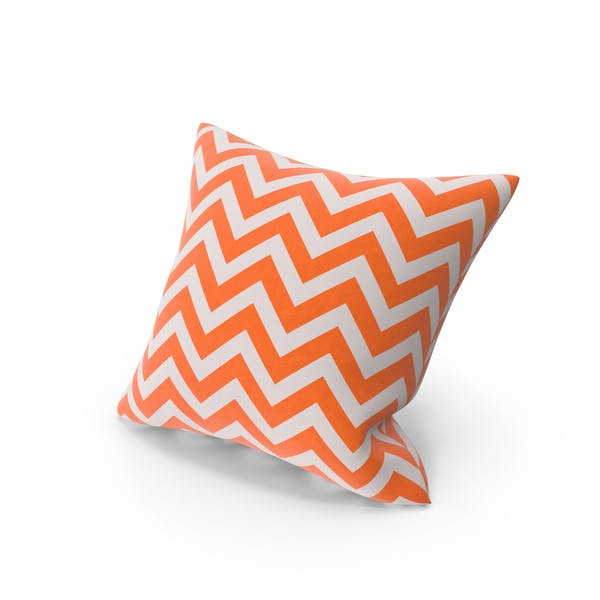 Orange Stripe Throw Pillow