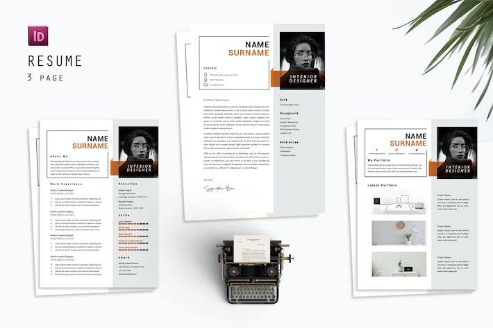 Interior Profolio Resume Designer
