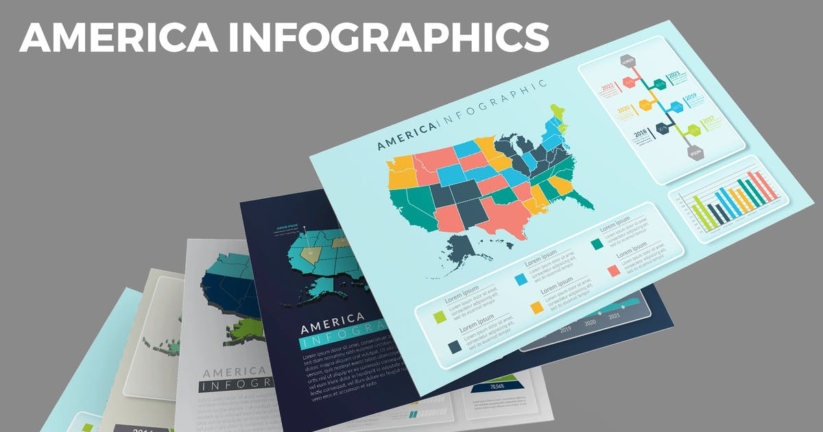 Download United State of America Map – Infographics Design by designesto