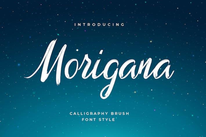 Thumbnail for Morigana Hand Brush Calligraphy Font