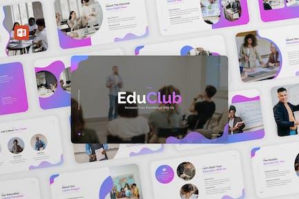 EduClub - Education Course PowerPoint Template