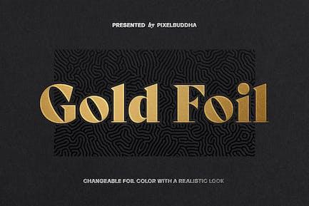 Metallische Folien-Logo Mockup