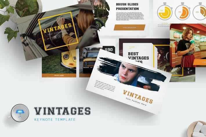 Thumbnail for Vintages  - Keynote Template