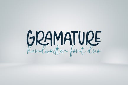 Gramature - Duo de polices manuscrites