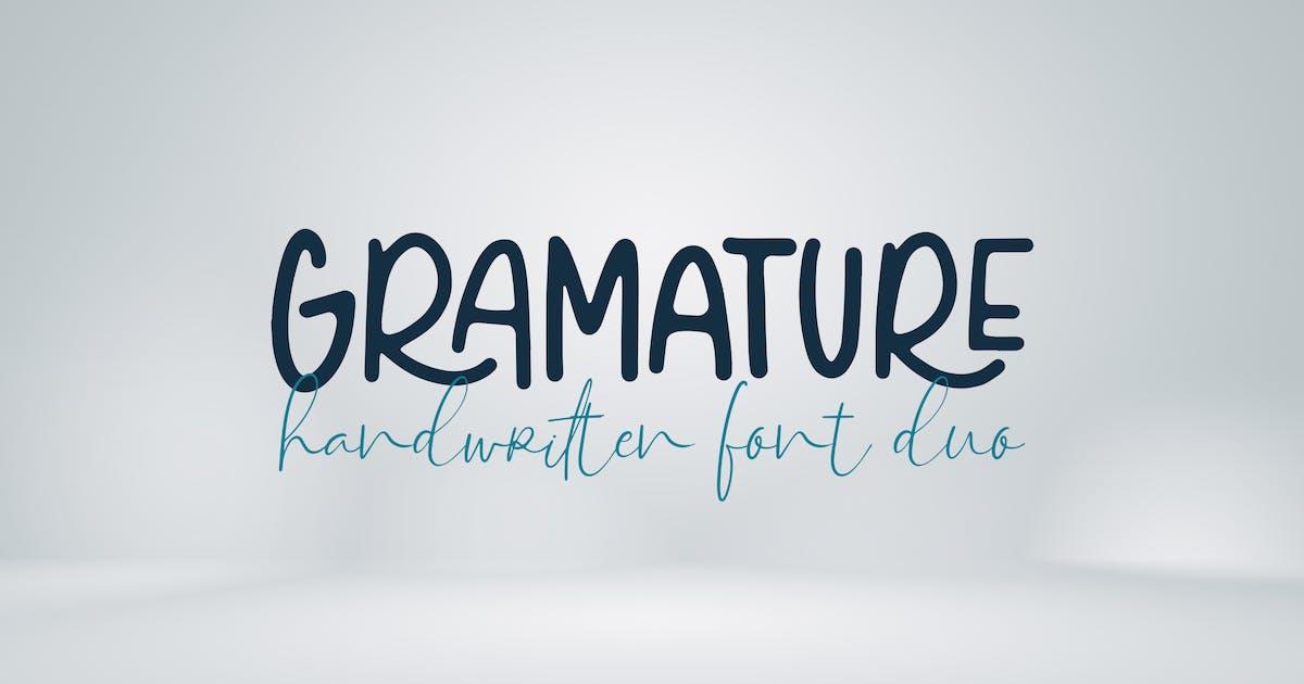 Download Gramature - Handwritten font duo by deTheme