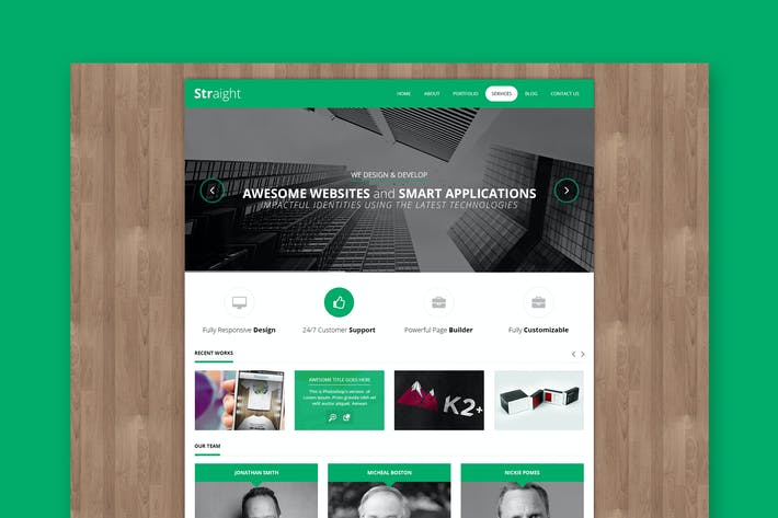 Thumbnail for Straight - Minimal PSD Template