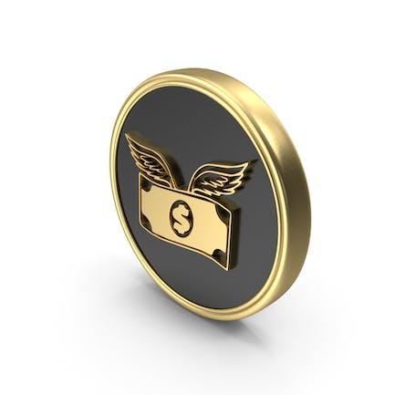 Dollar Flying Coin Logo Symbol Icon