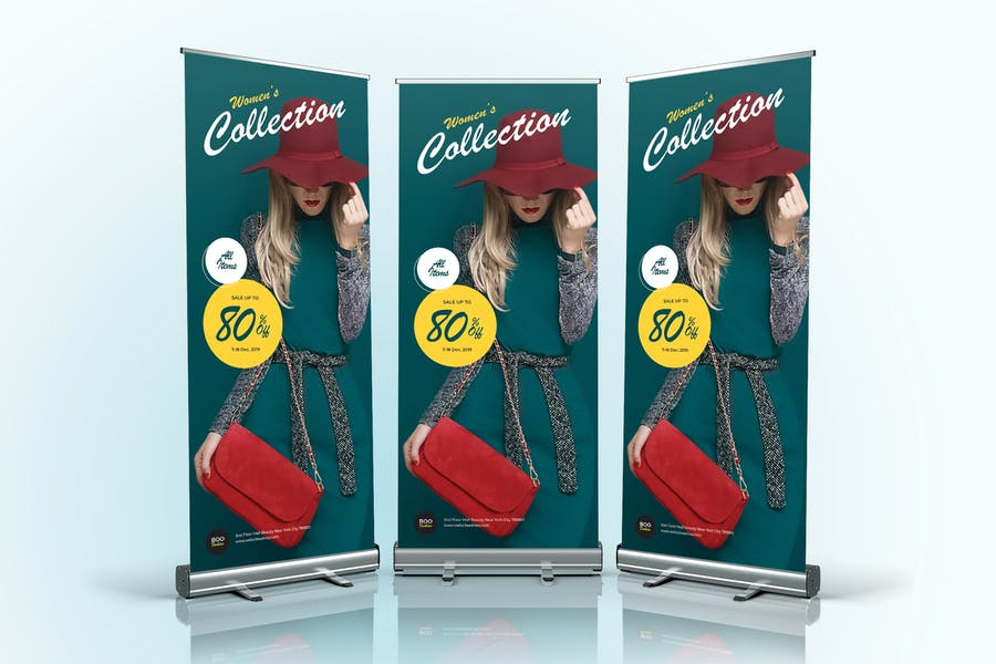 Fashion Sale Roll Up Banner 04