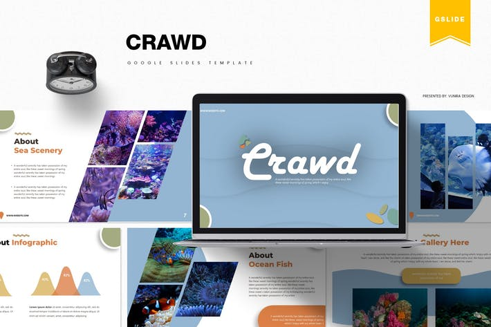 Thumbnail for Crawd | Google Slides Template