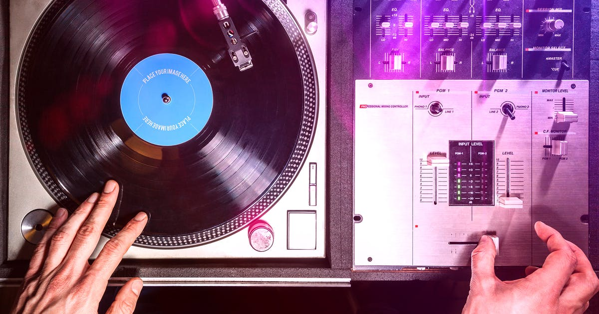 Download Vinyl Record & Album Cover Mock-ups - Party Pack by BlackNull