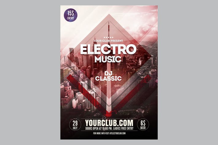 Thumbnail for Electro Music Flyer Poster