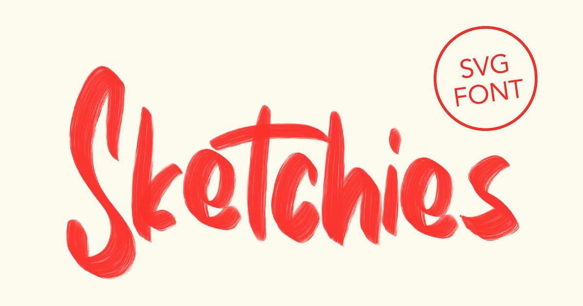 Download Sketchies SVG Brush Font by maulanacreative