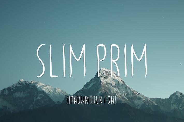 Thumbnail for Slim Prim Font