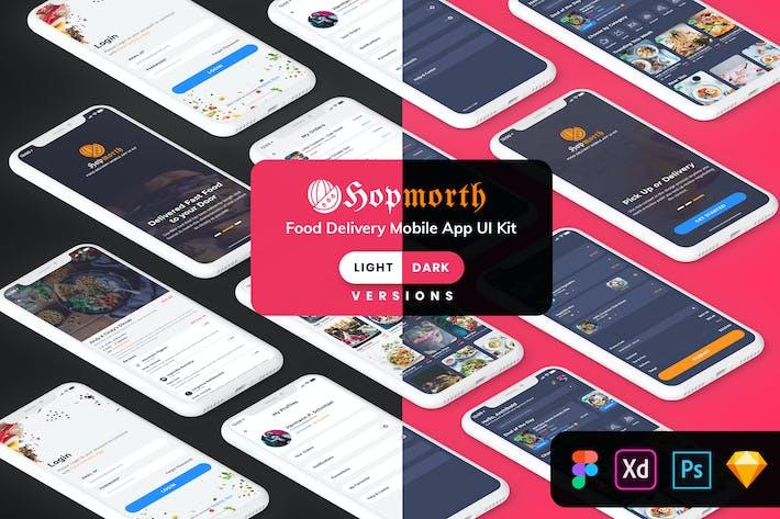 Thumbnail for Hopmorth-Restaurant MobileApp UI Kit(Light & Dark)