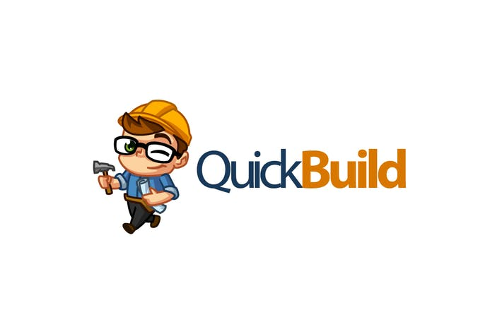 Thumbnail for QuickBuild - Construction Worker Character Logo