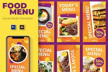 Lebensmittel Social-Media-Vorlage