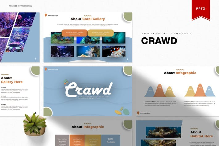 Thumbnail for Crawd | Powerpoint Template