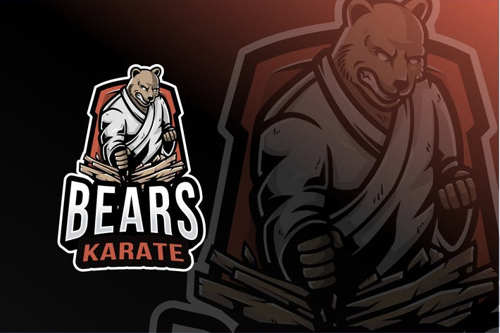 Thumbnail for Bears Karate Sport Logo Template