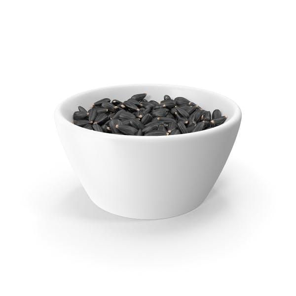 Full Bowl of Black Sunflower Seeds