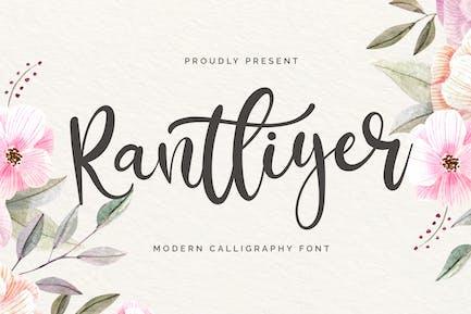Rantliyer - Calligraphy Font