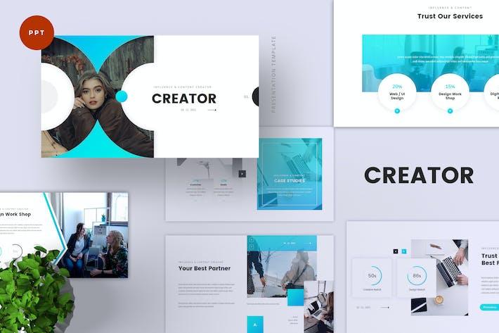 Thumbnail for Шаблон PowerPoint для создания инфлюенсера и контента