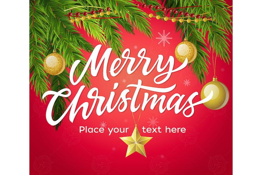 Merry Christmas - modern vector illustration