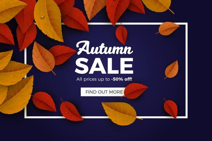 Cover Image For Autumn Sales Banner Background