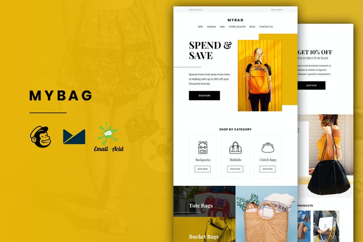 Thumbnail for MyBag - E-commerce Responsive Email Template