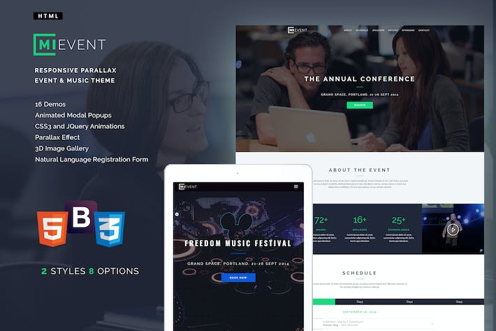 Download 11 Conference Website Templates