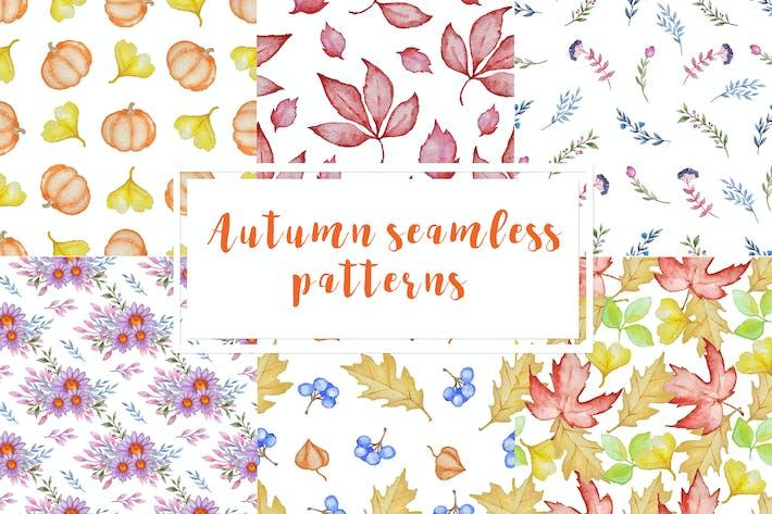 Thumbnail for Set aus nahtlosen Herbst-Mustern
